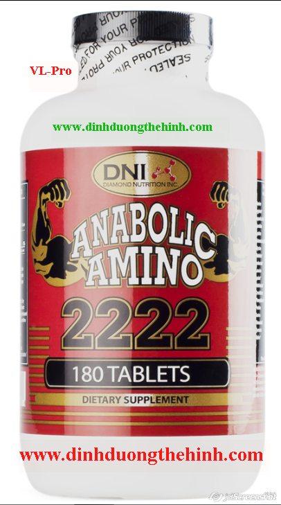 Amino 2222 DNI 180 Viên Tabs, tăng cơ bắp