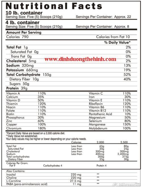 sữa tăng cân, sua tang can, Jumbo Weight Gainer 1000