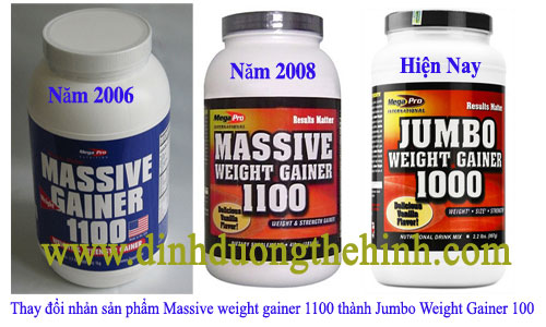 Sữa tăng cân Massive Weight Gainer 1100, sua tang can