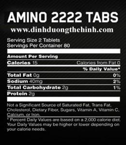 amino 2222 optimum, amino 2222 tabs