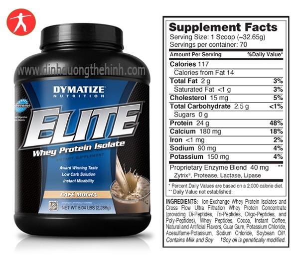Elite Whey Protein 5Lbs Sữa Tăng Cơ bắp-Sữa Thể Hình