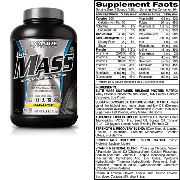 Elite Mass Gainer 6lbs