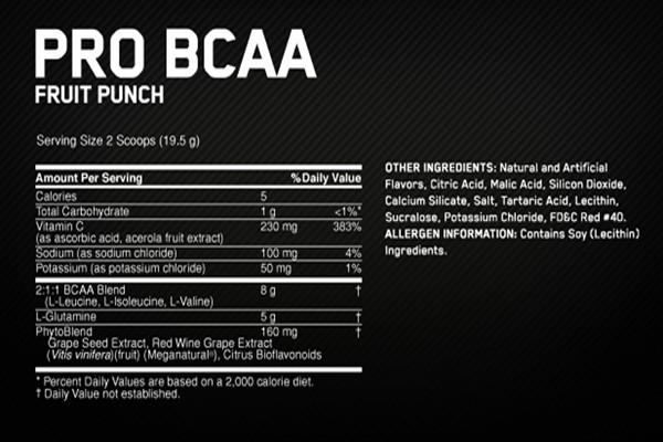 Thành phần Pro BCAA