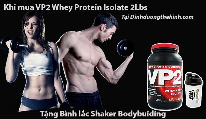 Khuyến mãi khi mua VP2 Whey Protien Isolate tại Dinhduongthehinh.com