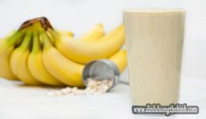 Giá trị dinh dưỡng sinh tố whey và chuối