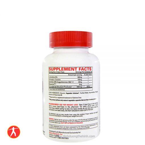 Nutrex Research Lipo-6 Stim-Free, 120 liqui-caps facts