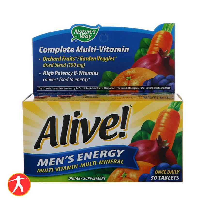 Alive! Men's Energy 50 Tablets