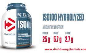 Dymatize Iso 100 – Gừng càng già càng cay Whey Protein siêu tinh khiết.