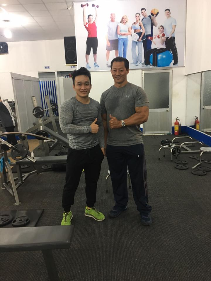 Ảnh Chụp Chung VĐV Lý Đức và Lĩnh Nguyễn tại phòng tập Lý Đức Gym Quận 7