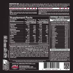 allmax nutriton quickmass gainer 6lbs nutrition facts